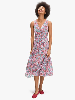 floral medley burnout dress by kate spade new york non-hover view