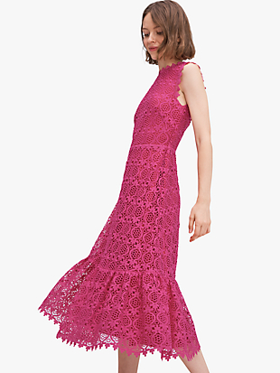 scallop lace dress by kate spade new york non-hover view