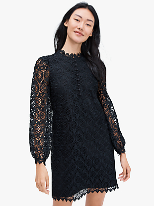 scallop lace mini dress by kate spade new york non-hover view