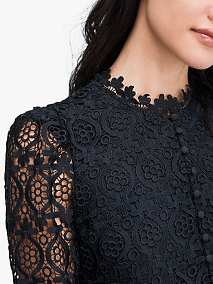 scallop lace mini dress by kate spade new york hover view