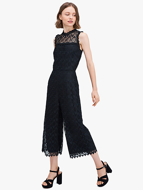 scallop-trim lace jumpsuit by kate spade new york