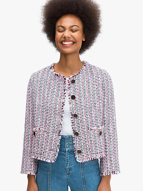 enchanted tweed jacket by kate spade new york