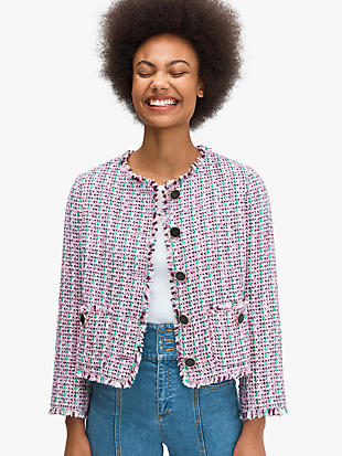 enchanted tweed jacket by kate spade new york non-hover view