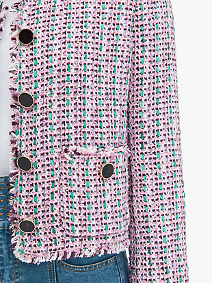 enchanted tweed jacket by kate spade new york hover view