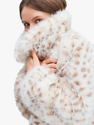 spotted faux fur jacket by kate spade new york non-hover view