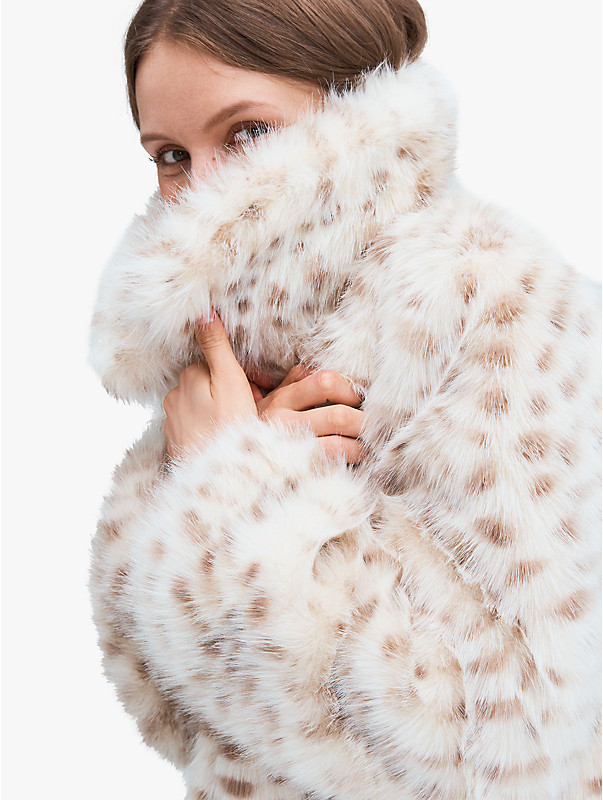 spotted faux fur jacket, , rr_large