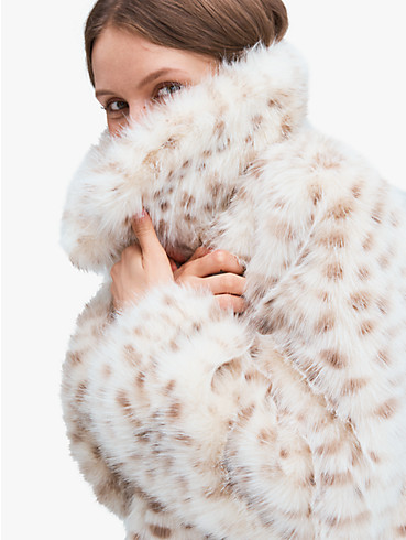 spotted faux fur jacket, , rr_productgrid