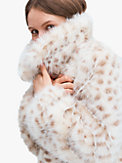 spotted faux fur jacket, , s7productThumbnail
