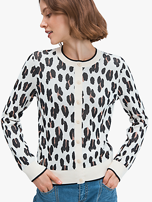 leopard signature cardigan by kate spade new york non-hover view
