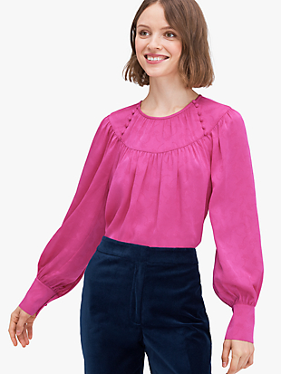 solid jacquard top by kate spade new york non-hover view