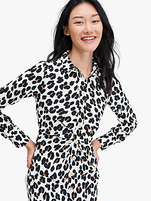 forest feline shirtdress by kate spade new york non-hover view