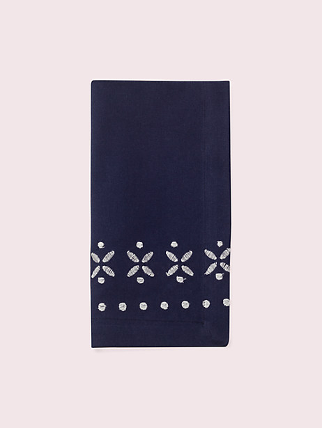 willow court napkin, navy, large by kate spade new york