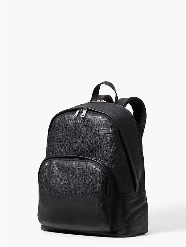pebbled leather backpack, , rr_large