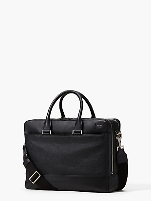 pebbled leather overnight brief by kate spade new york non-hover view