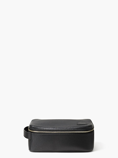 pebbled leather dopp kit by kate spade new york