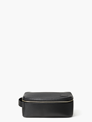 pebbled leather dopp kit by kate spade new york non-hover view