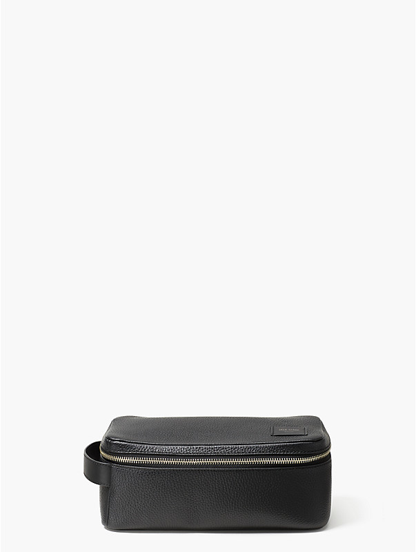 pebbled leather dopp kit, , rr_large