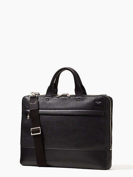 pebbled leather slim brief by kate spade new york
