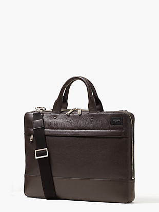pebbled leather slim brief by kate spade new york non-hover view