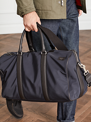 nylon twill gym duffel by kate spade new york hover view