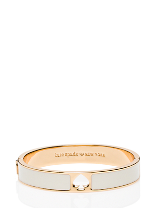 hole punch spade hinge bangle by kate spade new york non-hover view