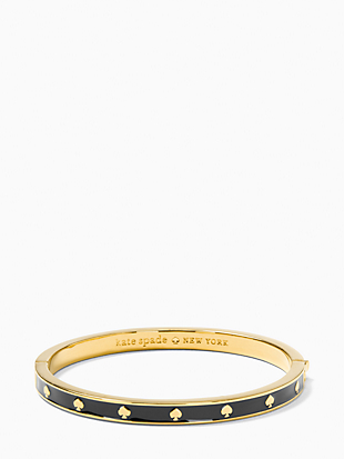 spot the spade enamel hinged bangle by kate spade new york non-hover view