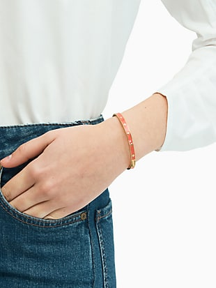 spot the spade enamel hinged bangle by kate spade new york hover view