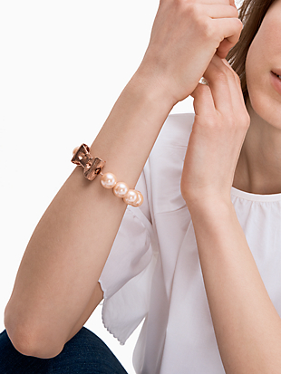 all wrapped up in pearls bracelet by kate spade new york hover view