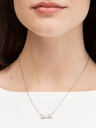 ready set bow pave bow mini pendant by kate spade new york hover view