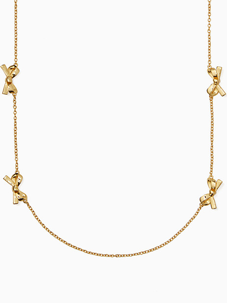 skinny mini bow scatter necklace by kate spade new york