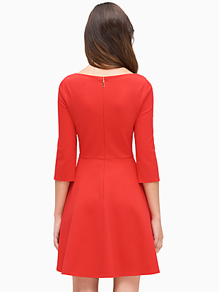 boat neck ponte dress by kate spade new york hover view