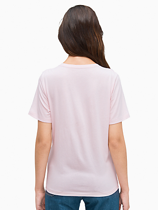 embroidered logo tee by kate spade new york hover view