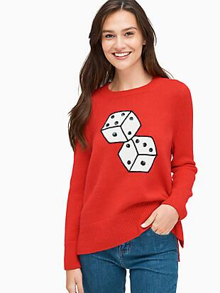 dice sweater by kate spade new york non-hover view