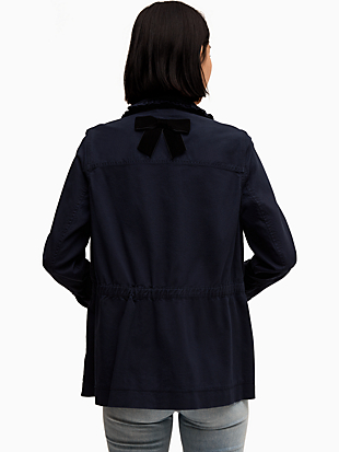broome street ruffle military jacket by kate spade new york hover view