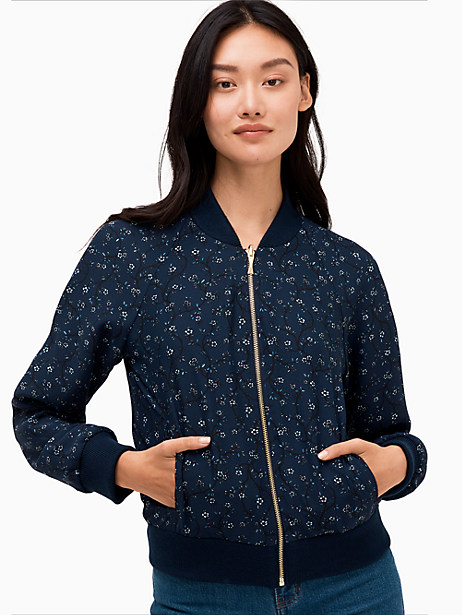 out west wild roses reversible bomber jacket by kate spade new york