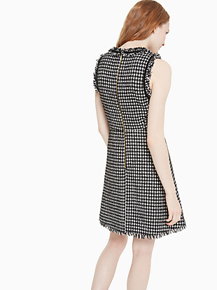 houndstooth tweed dress by kate spade new york hover view