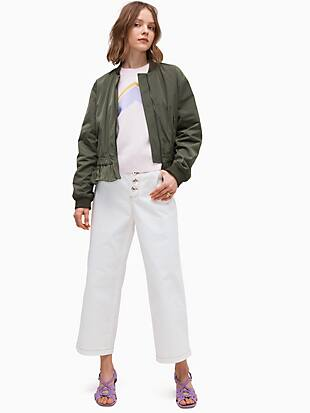 twill flounce bomber by kate spade new york non-hover view