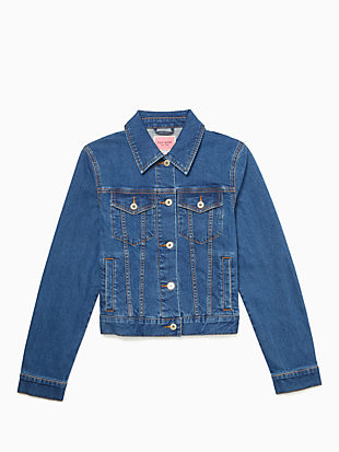 denim jacket by kate spade new york non-hover view