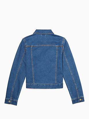denim jacket by kate spade new york hover view