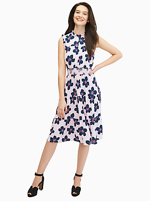 mainline grand flora smocked waist dress by kate spade new york non-hover view