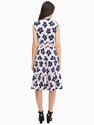 mainline grand flora smocked waist dress by kate spade new york hover view