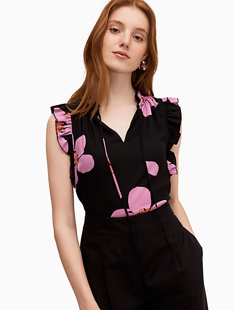 grand flora tie neck shell by kate spade new york
