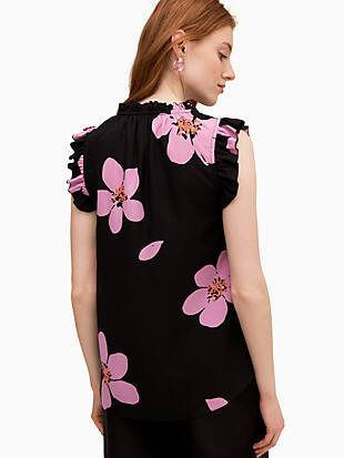 grand flora tie neck shell by kate spade new york hover view
