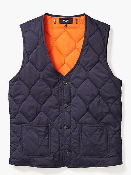 quilted 3-in-1 button out vest by kate spade new york