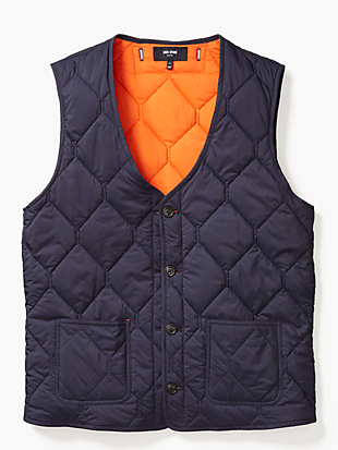 quilted 3-in-1 button out vest by kate spade new york non-hover view