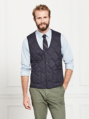 quilted 3-in-1 button out vest by kate spade new york hover view