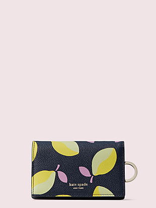 margaux lemons small keyring wallet by kate spade new york non-hover view