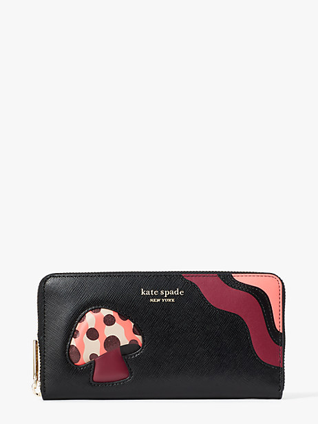 enchanted forest zip-around continental wallet by kate spade new york