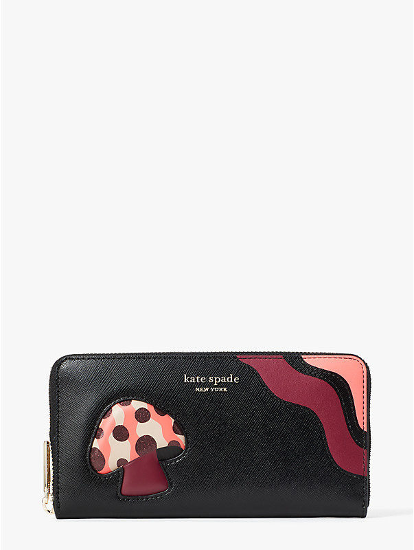 enchanted forest zip-around continental wallet, , rr_large