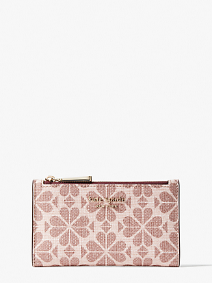 spade flower coated canvas small slim bifold wallet by kate spade new york non-hover view